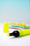 markiera majcherów kolor żółty Zdjęcie Stock