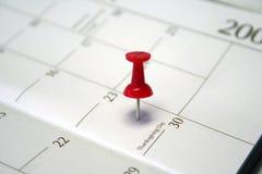 Markiertes Datum Stockfoto