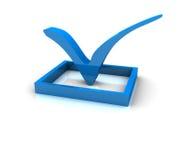 Markierung des Checks 3d Lizenzfreie Stockbilder