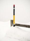 Markierung im Schnee Lizenzfreie Stockfotografie
