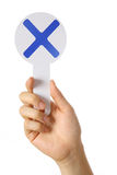 Markierung X Lizenzfreie Stockbilder
