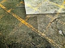Markierungen auf dem Sepia Prozessbedingungen der Pflasterung tonen stockbilder