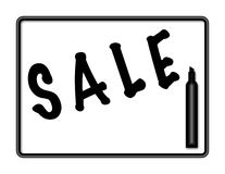 Markierungs-Vorstand-Verkaufs-Zeichen-Abbildung - schwarze Markierung Stockbilder