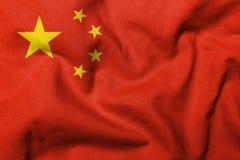 Markierungsfahne 3D von Volksrepublik China Lizenzfreie Stockbilder