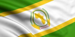 Markierungsfahne der Afrikanischer Union stock abbildung