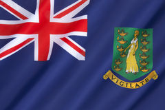 Markierungsfahne der British Virgin Islands Stockfotografie