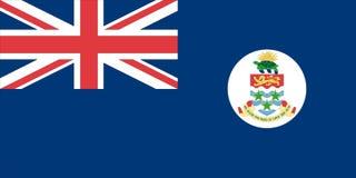Markierungsfahne der Cayman Islands Stockfotos