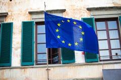 Markierungsfahne der Europäischen Gemeinschaft Lizenzfreies Stockfoto
