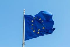 Markierungsfahne der Europäischen Gemeinschaft Stockbild