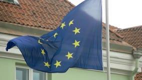 Markierungsfahne der Europäischer Gemeinschaft stock footage