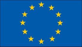 Markierungsfahne der Europäischen Gemeinschaft Stockfotografie