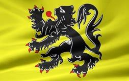 Markierungsfahne der flämischen Gemeinschaft - Belgien Stockbilder