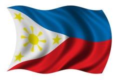 Markierungsfahne der Philippinen Lizenzfreie Stockfotos