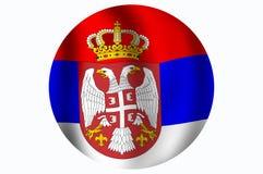 Markierungsfahne der Republik von Serbien Stockfotografie
