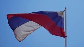 Markierungsfahne der Russischen Föderation stock video