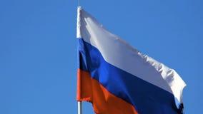 Markierungsfahne der Russischen Föderation stock footage