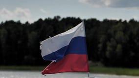 Markierungsfahne der Russischen Föderation stock video footage
