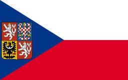 Markierungsfahne der Tschechischen Republik stock abbildung