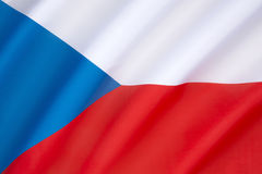 Markierungsfahne der Tschechischen Republik Stockfotografie