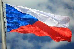 Markierungsfahne der Tschechischen Republik Lizenzfreie Stockfotos