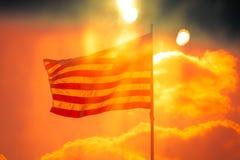 Markierungsfahne der USA Stockbild