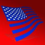 Markierungsfahne der USA lizenzfreie abbildung