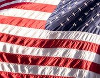 Markierungsfahne der USA (Amerika) auf Wall Street Lizenzfreies Stockfoto