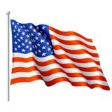 Markierungsfahne der USA. Vektor. Stockfotografie