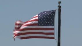Markierungsfahne der Vereinigten Staaten stock video footage