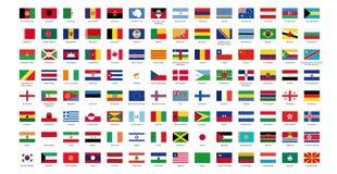 Markierungsfahne der Welt I Lizenzfreies Stockbild