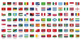 Markierungsfahne der Welt II Lizenzfreies Stockbild