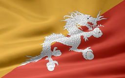 Markierungsfahne des Buthan Stockbilder