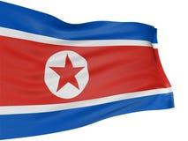 Markierungsfahne des Nordkoreaners 3D Stockbild