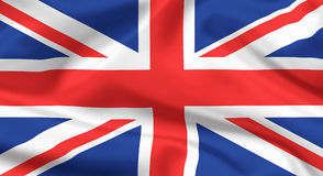 Markierungsfahne des Vereinigten Königreichs Stockfoto