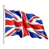 Markierungsfahne des Vereinigten Königreichs. Vektor. Stockbilder