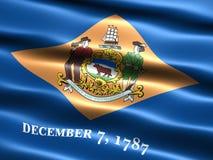 Markierungsfahne des Zustandes von Delaware Lizenzfreies Stockfoto