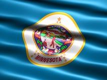 Markierungsfahne des Zustandes von Minnesota Lizenzfreies Stockbild