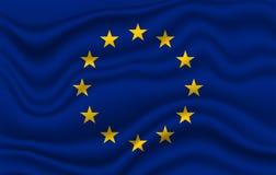 Markierungsfahne EU-Europa lizenzfreie stockfotos