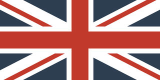 Markierungsfahne Großbritanniens Stockfotografie