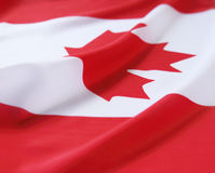 Markierungsfahne Kanada Lizenzfreie Stockfotos
