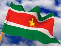 Markierungsfahne. Surinam lizenzfreie abbildung