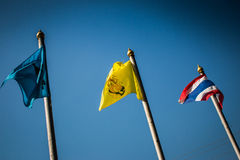 Markierungsfahne Thailand stockfotos