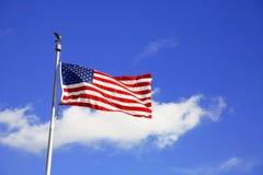 Markierungsfahne USA draußen Stockfoto
