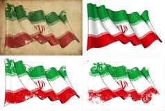 Markierungsfahne vom Iran vektor abbildung