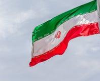 Markierungsfahne vom Iran Lizenzfreies Stockbild