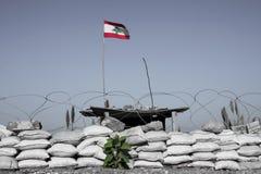 Markierungsfahne vom Libanon Lizenzfreies Stockbild