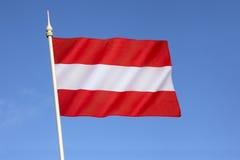 Markierungsfahne von Österreich Lizenzfreie Stockfotos