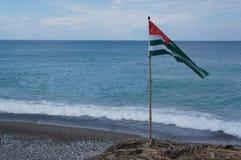 Markierungsfahne von Abchasien lizenzfreie stockfotografie