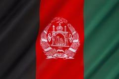 Markierungsfahne von Afghanistan stockfoto