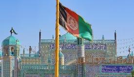 Markierungsfahne von Afghanistan lizenzfreie stockfotos